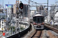 xxx 44 JR-West 323-1 (LS01), Fukushima (Osaka Loop Line) (Howard_Pulling) Tags: 323 class323 323series emu osaka osakaloop japan kansai rail railway zug bahn bahnhof gare station
