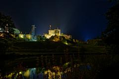 Chateau de Tiffauges (stefg1971) Tags: chateau castle vendée france night blue lights tiffauges barbe bleue lac lake reflection