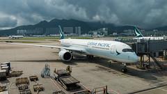 B-LRN - Cathay Pacific - Airbus A350-941 (bcavpics) Tags: china plane airplane hongkong aviation sar blrn gate aircraft cx airbus hkg airliner cathaypacific cheklapkok cpa a359 a350 vhhh bcpics