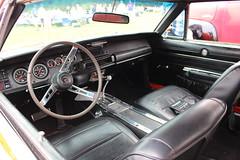 1968 Dodge Charger,2 (doojohn701) Tags: black sparten vintage classic car interior reflection vinyl seats 1968 dodge charger uk