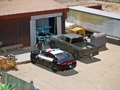 Police Blotter 6/26/2019 (THE RANGE PRODUCTIONS) Tags: greenlight diecast diecastdioramas dioramas toy model pontiac display dodgechargerpursuit chevroletsilverado dry van vantrailer truck trailer 164scale 187 hoscalefigures modular m