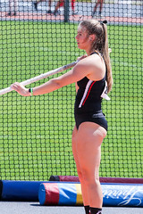 2019_TNR_PVW_0467 (Knox Triathlon Dude) Tags: 2019 woman women university sports polevault trackandfield fitness varsity briefs bunhuggers legs beautiful pretty athlete female college track meet usa
