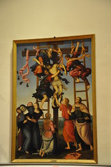 Deposition from the Cross (Annunziata Polyptych) (Ryan Hadley) Tags: galleriadellaccademiadifirenze galleriadellaccademia accademiagallery accademia artgallery museum art renaissance florence italy europe worldheritagesite annunziatapolyptych jesus christ cross crucifixion deposition painting