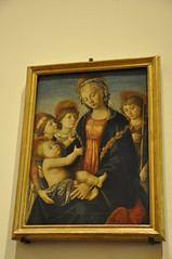 The Virgin and Child with Two Angels and the Young St. John the Baptist (Ryan Hadley) Tags: galleriadellaccademiadifirenze galleriadellaccademia accademiagallery accademia artgallery museum art renaissance florence italy europe worldheritagesite painting madonna botticelli