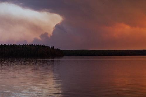 A different cloud form at sunset, Waskesiu, Prince Albert National Park, Saskatchewan