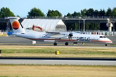 CYVR - Horizon Air De Havilland Canada DHC-8-400 N421QX (CKwok Photography) Tags: yvr cyvr horizonair dehavillandcanada dhc8400 n421qx
