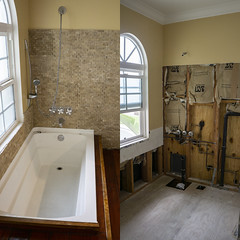Demo Day (evaxebra) Tags: home house remodeling master bath repair remodel demolition demo bathroom before after