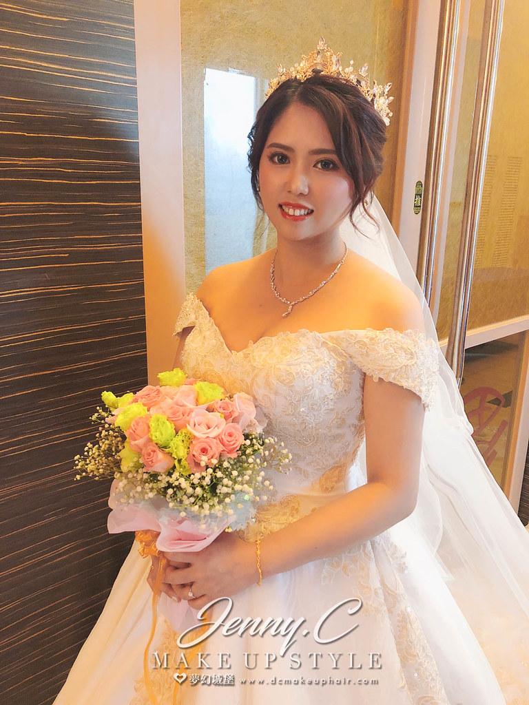 【新秘蓁妮】bride伊君 結婚造型 / 彰化新高乙鮮婚宴會館