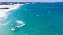 Sorrento Beach - Lifesaver (The Dronefather) Tags: jet ski lifesaver swimmer swimming water blue ocean sorrento western australia perth waves surf drone