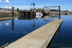2019-06-25 Cap Sante Marina T Dock (02) (2048x1360) (-jon) Tags: anacortes fidalgoisland sanjuanislands skagitcounty skagit washingtonstate washington salishsea capsante marina capsantemarina fidalgobay tugboat vessel boat ship tug fox tdock megalodon fishing commercial crane a266122photographyproduction water reflection pier dock