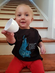 Cheers (quinn.anya) Tags: eliza toddler technical toast teacup stairs