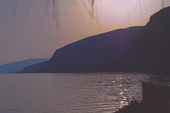Agios Nicholas Sunset (Dims Dallaire) Tags: beach greece mountain sunset port