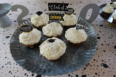Graduation Cupcakes (Heath & the B.L.T. boys) Tags: party metal dessert homemade organic galvanized gradutaion