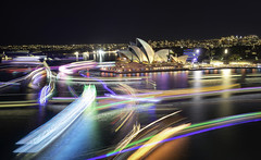 Boat Light Trails, Vivid Sydney 2019 (Luke Zeme Photography) Tags: vivid vividsydney pixel perfect 2019 tourismnsw timelapse visualsoflife visual architects envision tones igerssydney sydneyfolk create commune ageoftones urbanandstreet artofvisuals heatercentral illgrammers visualsgang sydney australia photography sony a7r ausgeo newsouthwales aussiephotos longexposure stackedphotoshop operahouse harbourbridge sydneyoperahouse sydneyharbourbridge artwork installation artinstallation mca museumofcontemporaryart therocks rocks vividlongexposure vivid2019 sydneyharbour circularquay ferry ferryboats boats yachts lighttrails lights colouredlights reflections reflection sea ocean water seascape best amazing great explosion stacked