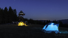 Summit Prairie Lookout (Brook Terwilliger) Tags: brookterwilliger oregon summit prairie lookout camping tent night bluehour stars starry