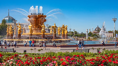Fountain Friendship of Nations in VDNH (Moscow, Russia, 2019) (KonstEv) Tags: fountain vdnh moscow russia москва россия вднх фонтан дружбынародов лето summer flower park water golden