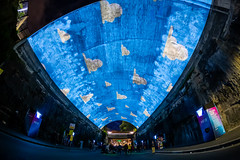 Man-made clouds (Jared Beaney) Tags: canon6d canon australia australian travel photography photographer sydney vividsydney 2019 newsouthwales night tunnel disney pixar projections city