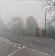 T junction (steve-jack) Tags: hasselblad 501cm 50mm cfi cinestill 800t 85b filter film 120 6x6 medium format hertfordshire mist fog tetenal c41 kit epson v500