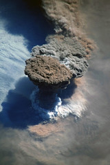 Raikoke Eruption 1, variant (sjrankin) Tags: 22june2019 26june2019 clouds russia russianfederation kurilislands raikoke volcano eruption plume ashplume pacificocean okhotsksea iss iss059 iss059e119254