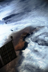 Raikoke Eruption 4, variant (sjrankin) Tags: 22june2019 26june2019 clouds russia russianfederation kurilislands raikoke volcano eruption plume ashplume pacificocean okhotsksea iss iss059 iss059e119257 solarpanel