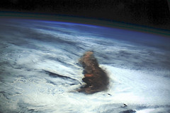 Raikoke Eruption 3, variant (sjrankin) Tags: 22june2019 26june2019 clouds russia russianfederation kurilislands raikoke volcano eruption plume ashplume pacificocean okhotsksea iss iss059 earthslimb iss059e119243