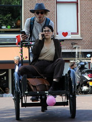 love looking for directions (andrevanb) Tags: amsterdam prinsengracht bike freight tricycle heart love street