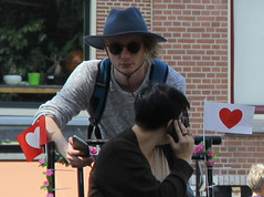 love looking for directions (andrevanb) Tags: street love amsterdam bike heart tricycle prinsengracht freight