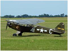 PIPER J3 C 65 Cub - 44-80488 - F-BKNO (Aerofossile2012) Tags: airshow meeting aircraft avion aviation 2018 piper j3 c 65 cub 4480488 fbkno