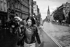 Rainy Day (Cycling-Road-Hog) Tags: blackwhite candid canoneos750d citylife colour efs24mmf28stm edinburgh edinburghstreetphotography fashion monochrome people places royalmile scotland street streetphotography streetportrait style umbrella urban