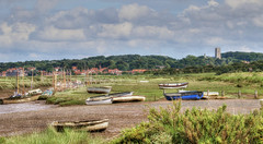 Blakeney (robin denton) Tags: village northnorfolkcoast blakeney landscape coast boats marsh creek hdr photomatix tidal