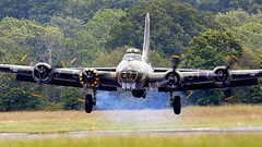 B-17 Flying Fortress (Bernie Condon) Tags: dunsfold wingswheels airshow surrey uk aviation aircraft flying display boeing b17 flyingfortress usaaf bomber ww2 vintage preserved warplane military sallyb