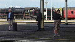Come On, Pay Attention! (whosoever2) Tags: bristol temple meads uk united kingdom gb great britain england sony dscrx100m3 train railway railroad june 2019 stanier black5 44871 1z24 steam locomotive passenger traveller