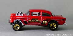 Hot Wheels - '55 Chevrolet Bel Air (Colinsdiecastcars) Tags: p1020040 hotwheels chevrolet belair gasser 164