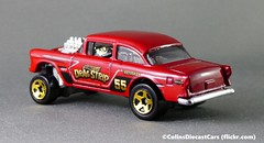 Hot Wheels - '55 Chevrolet Bel Air (Colinsdiecastcars) Tags: p1020039 hotwheels chevrolet belair gasser 164