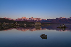 Sunrise At South Tufa (Amar Raavi) Tags: monolake mountgibbs mountdana reflection sierranevada mountains lake tufas sunrise dawn colorful scenic snow landscape outdoors travel leevining water california usa easternsierra southtufa