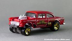 Hot Wheels - '55 Chevrolet Bel Air (Colinsdiecastcars) Tags: p1020038 hotwheels chevrolet belair gasser 164