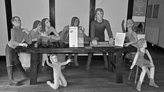 """The Return of the Carpenter"" (42jph) Tags: samlesbury hall preston lancashire uk england interior black white bw mono sculpture josefina de vasconcellos return carpenter"