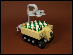 Mobile Produce (Karf Oohlu) Tags: lego moc microscale vehicle trackedvehicle tracks produce vegetablepatch mobilevegetables