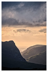 Last light over Fleetwith Pike, The Lake District (dandraw) Tags: fleetwithpike honisterpass honisterslatemine buttermere sunset landscape mountains drama dramatic atmospheric moody stormclouds stonethwaitefell thelakes thelakedistrict lakedistrict cumbria goldenhour shadows silhouette fuji fujifilm xt3