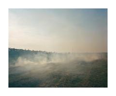 (iconicturn) Tags: roskovec albania balkan analog analogue mediumformat film 120 6x7 kodak portra mamiya7 mamiya field rural fire smoke