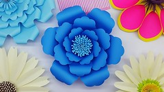 How to Make DIY Paper Flower Easy | My Wedding Backdrop Flowers | Paper Craft (ufnmimcp) Tags: youtube origami papers made colors paper