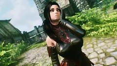 Felicia Ferwind (XMymy007X) Tags: skyrim enb tesv lady sexy latex black