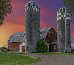 While It Lasted (henryhintermeister) Tags: barns minnesota oldbarns clouds farming countryliving country sunsets storms sunrises pastures nostalgia skies outdoors seasons field hay silos dairybarns building architecture outdoor winter serene grass landscape plant cloudsstormssunsetssunrises princetonmn