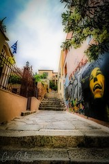 Street in Athens (corineouellet) Tags: painting composition exposure walking stairs streetphoto colors athens athènes greece grèce canonphoto art rue street travel graffitis