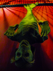 I Wish This One Had Got Away (Steve Taylor (Photography)) Tags: mermaid tail model green red eerie spooky scary frightening uk gb england greatbritain unitedkingdom london fish bars monster viktorwyndmuseum