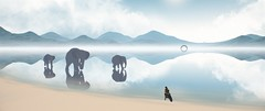Away 2019 Gints Zilbalodis 5 (Gints Zilbalodis) Tags: maya 3d animated fantasy adventure film annecy zilbalodis gints animation 2019 away elephants elephant motorcycle reflection mirror lake