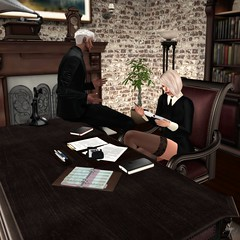 Shades Desk (Algezares (III)) Tags: evhah evh desk boss secretary fireplace secondlife sexy sensual maitreya mesh genus work sex cuddles