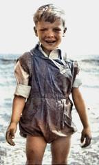 On holiday (theirhistory) Tags: boy child children kid seaside waterproof sea