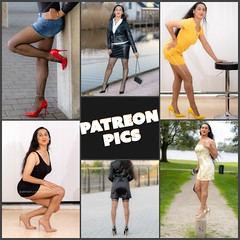 Collage of Patreon Pics (Natassia Crystal) Tags: tgirl transgender crossdresser crossdress crossdressing transvestite travestiet tg tv cd natassiacrystal natassia crystal natcrys nat crys tassia highheels stilettoheels denimskirt lbd littleblackdress yellowdress golddress stockings tights fishnets fishnettights redheels nudepumps legsfordays onelegstand posing leatherjacket leatherskirt leatheroutfit indoor outdoor patreon