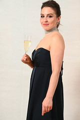 DSC_3638 (photographer695) Tags: laura from russia shoreditch studio london black cocktail dress with glass italian prosecco portrait